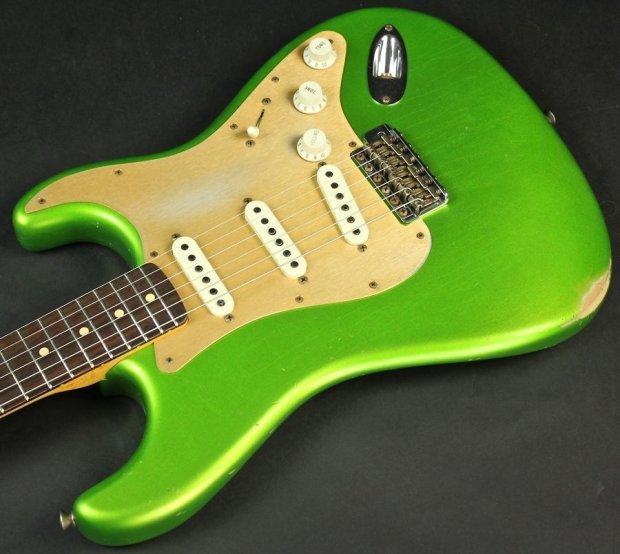 Fender Custom Shop 1961 Stratocaster Relic In Lime Green