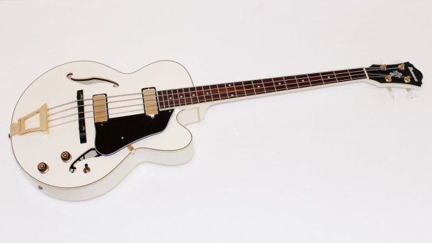 ibanez afb200 4 string white hollowbody electric bass guitar reverb. Black Bedroom Furniture Sets. Home Design Ideas