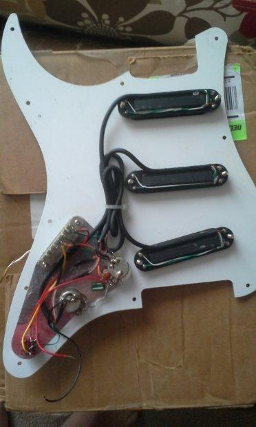 carvin assembled pickguard w twinblade humbucker pickups seymour guitar wiring harness nighthawk guitar wiring harness