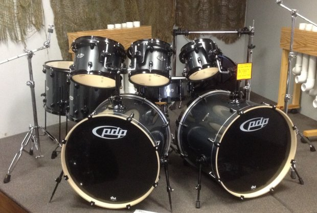 pdp double drive kit metallic gray dbl bass drum set w hardware reverb. Black Bedroom Furniture Sets. Home Design Ideas