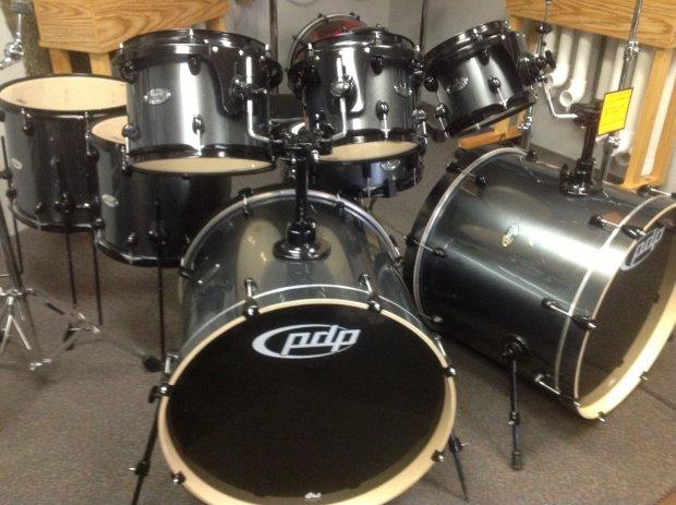 Pdp Double Drive Kit Metallic Gray Dbl Bass Drum Set W