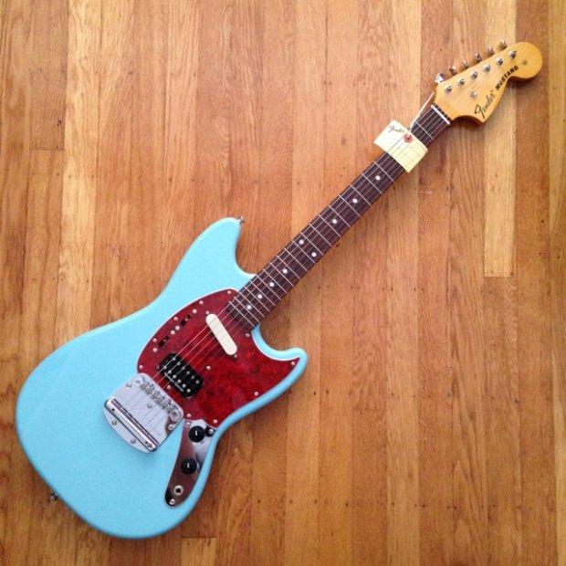 fender kurt cobain mustang sonic blue reverb. Black Bedroom Furniture Sets. Home Design Ideas