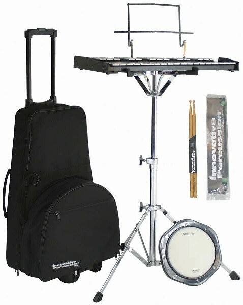 innovative percussion ippksn1 student bell kit set and snare drum pad with case reverb. Black Bedroom Furniture Sets. Home Design Ideas