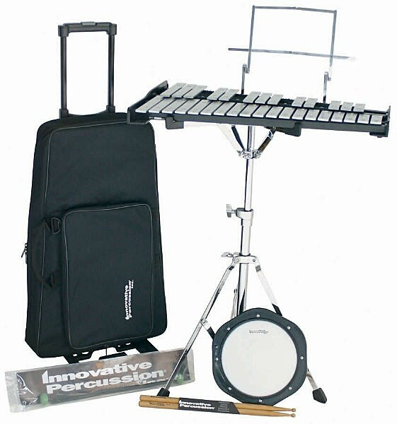 Innovative percussion ippk32 32 note student bell kit set for Yamaha student bell kit with backpack and rolling cart