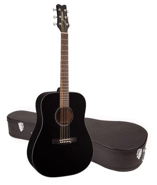 jasmine by takamine jd93 blk black dreadnought acoustic guitar with case reverb. Black Bedroom Furniture Sets. Home Design Ideas