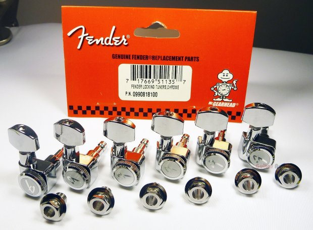Genuine Fender Locking Guitar Quot F Quot Tuning Pegs Polished