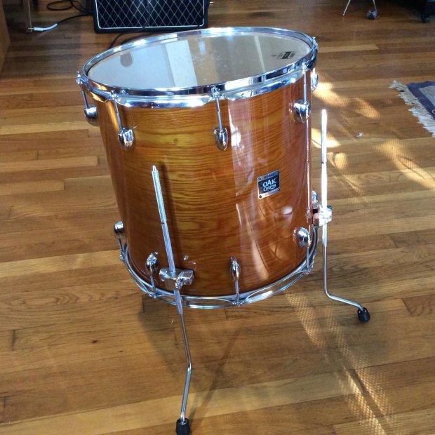 Yamaha oak custom 16 floor tom drum amber reverb for 14x12 floor tom