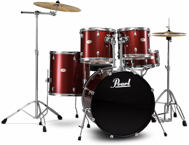 Pearl Forum Series 5 pc Set 2011 Red Wine | Reverb