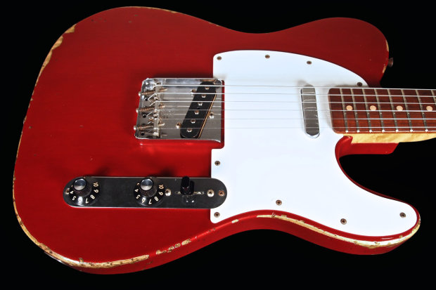 2000 fender telecaster muddy waters tribute custom shop relic limited edition tele candy apple. Black Bedroom Furniture Sets. Home Design Ideas