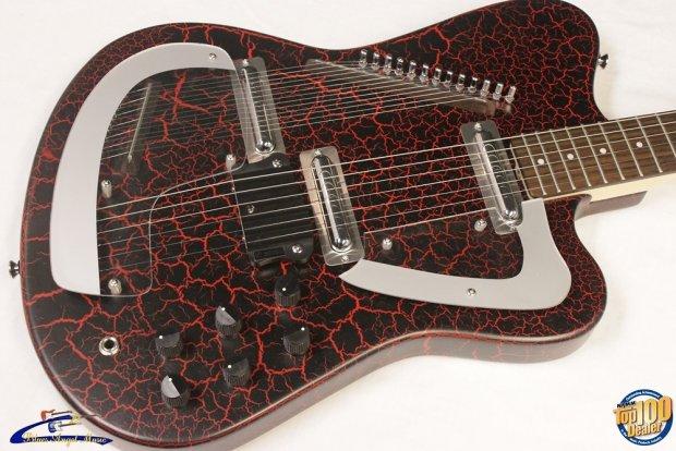 italia modena sitar electric guitar red crackle brand new 8969 reverb. Black Bedroom Furniture Sets. Home Design Ideas