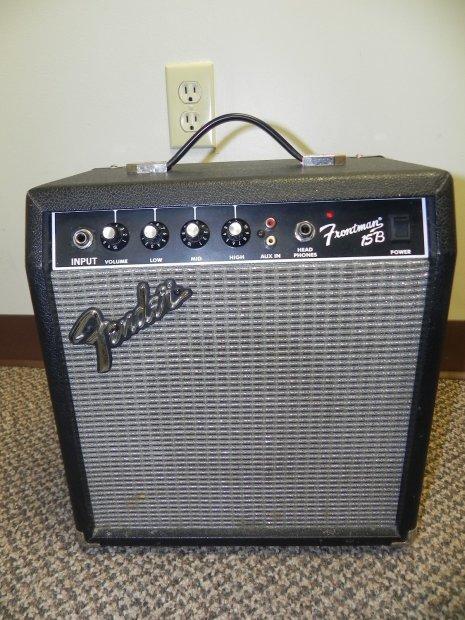 Fender Frontman 15b Bass Combo Amp For Repair Black Reverb