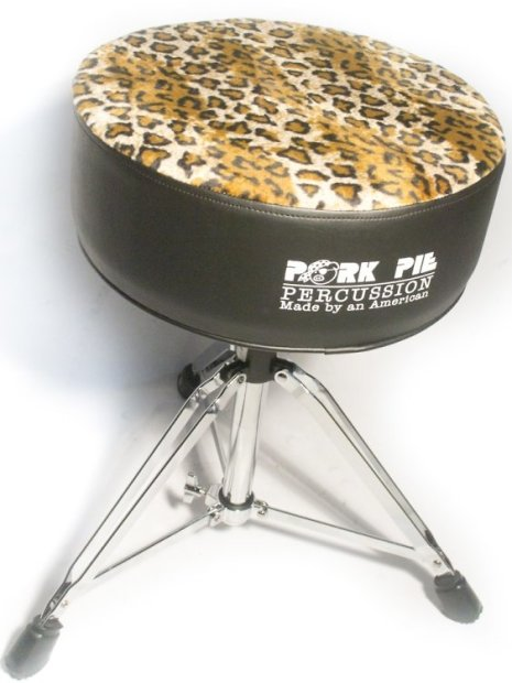 pork pie round throne standard base black sides leopard top reverb. Black Bedroom Furniture Sets. Home Design Ideas