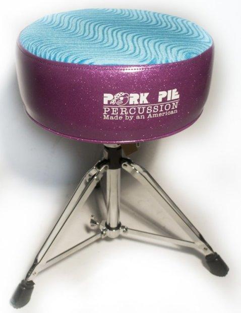 pork pie round throne standard base purple sparkle sides aqua swirl top reverb. Black Bedroom Furniture Sets. Home Design Ideas