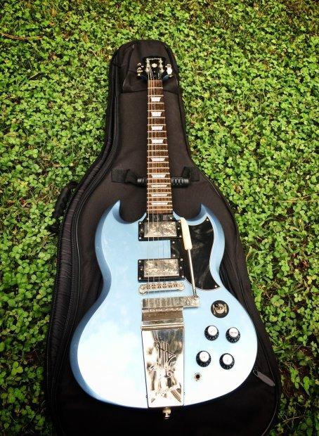 epiphone sg g 400 65 reissue maestro vibrola tremolo electric guitar custom shop pelham blue. Black Bedroom Furniture Sets. Home Design Ideas