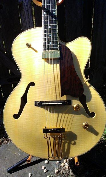 yamaha aex 1500 archtop guitar blonde mij martin taylor signature model piezo reverb. Black Bedroom Furniture Sets. Home Design Ideas