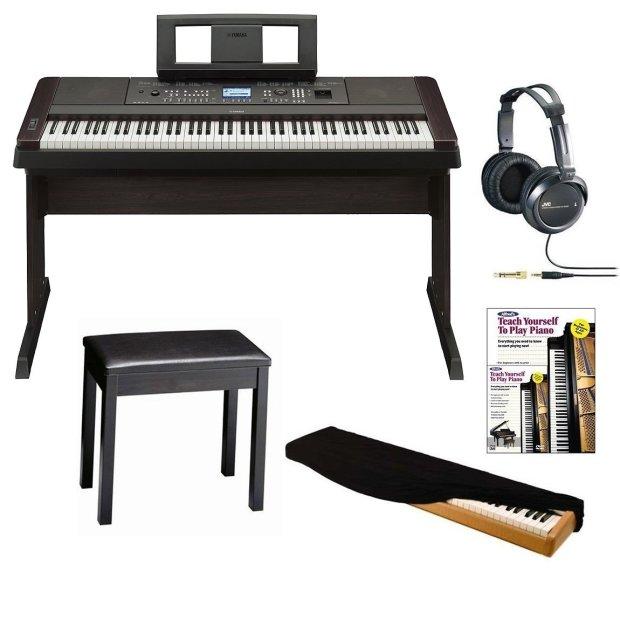 Yamaha dgx 650 black 88 key weighted grand digital piano for Yamaha keyboard 88 keys weighted