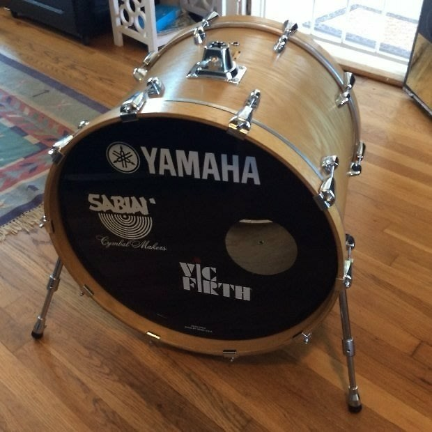 yamaha oak custom 22 kick bass drum natural reverb. Black Bedroom Furniture Sets. Home Design Ideas