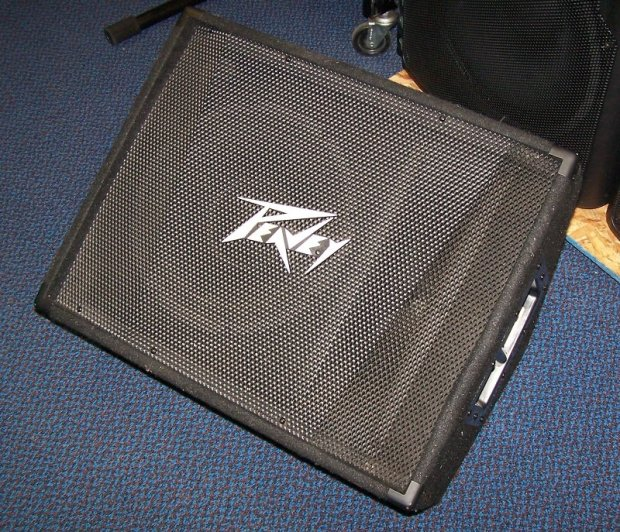 Peavey pv 12m 12 floor monitor great shape reverb for 12 floor monitor