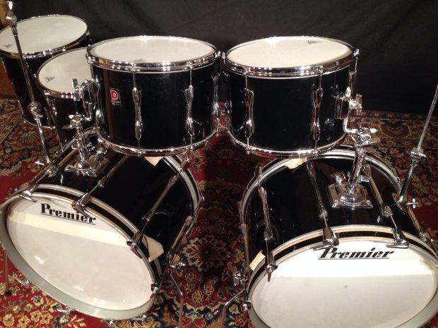 Vintage 1975 Premier Double 6 Pc Bass Drum Kit W Pedals