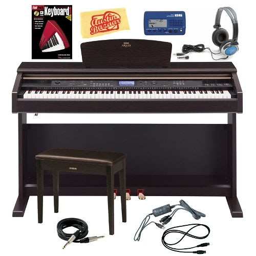yamaha ydp v240 piano w bench usb midi interface metronome cables headphones music book. Black Bedroom Furniture Sets. Home Design Ideas