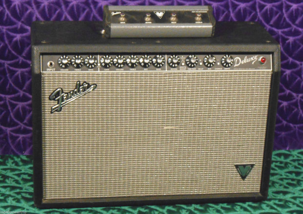 fender deluxe vm vintage modified w footswitch 40 watts reverb. Black Bedroom Furniture Sets. Home Design Ideas