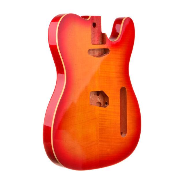 Honey Sunurst Mahogany Flamed Top Telecaster Style Guitar