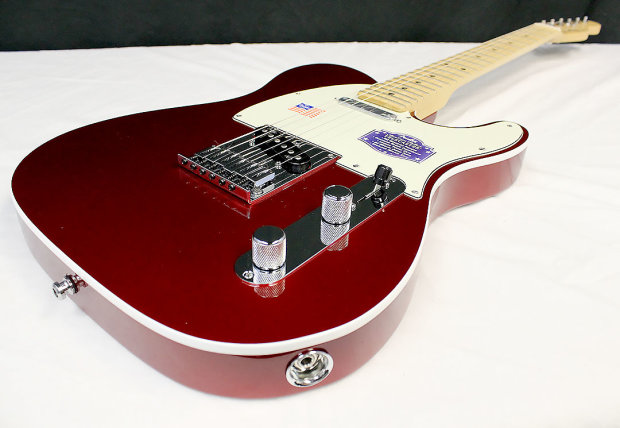 fender american deluxe telecaster 2014 candy apple red maple neck 26845 reverb. Black Bedroom Furniture Sets. Home Design Ideas