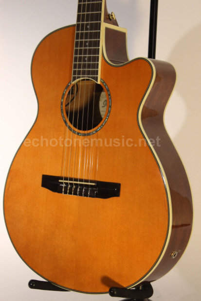 ibanez aeg10 nii acoustic electric classical guitar nylon strings spruce top natural reverb. Black Bedroom Furniture Sets. Home Design Ideas