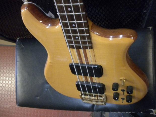 kawai neck thru 1970 s natural bass guitar reverb. Black Bedroom Furniture Sets. Home Design Ideas