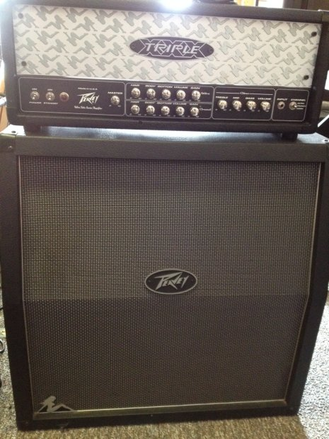 peavey triple xxx head 412 slant half stack w footswitch reverb. Black Bedroom Furniture Sets. Home Design Ideas