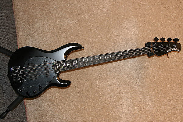 music man bass stingray 5 stealth black ebony hs bass guitar w hsc reverb. Black Bedroom Furniture Sets. Home Design Ideas