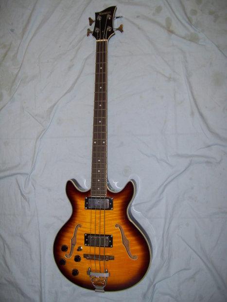 left handed bass guitar semi hollow body reverb. Black Bedroom Furniture Sets. Home Design Ideas