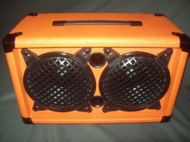 orange earcandy mini 2x6 guitar amp speaker cab cabinet 100 watts 4 ohms reverb. Black Bedroom Furniture Sets. Home Design Ideas
