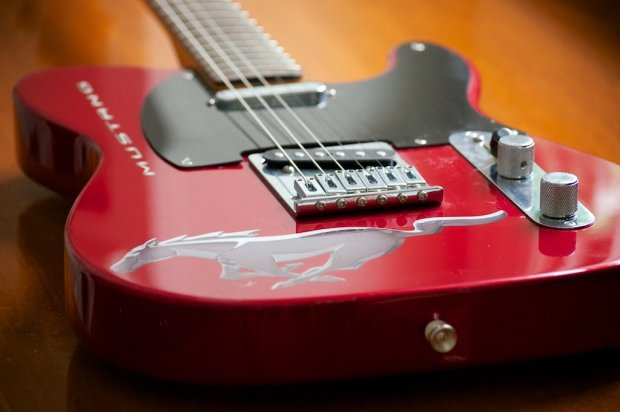 Fender Telecaster Ford Mustang 2009 Red Reverb