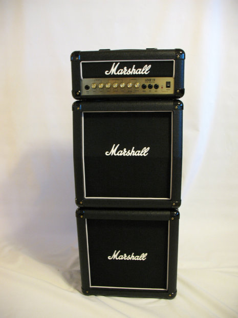 marshall lead 15 full mini stack g15ms amp head and 2 cabinets mint condition reverb. Black Bedroom Furniture Sets. Home Design Ideas