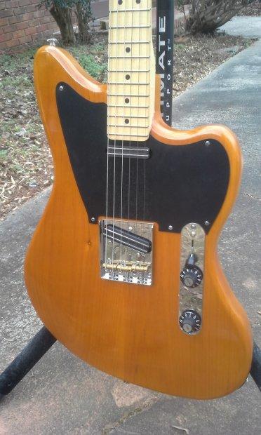 homemade telemaster jazzcaster offset guitar 2014 amber reverb. Black Bedroom Furniture Sets. Home Design Ideas