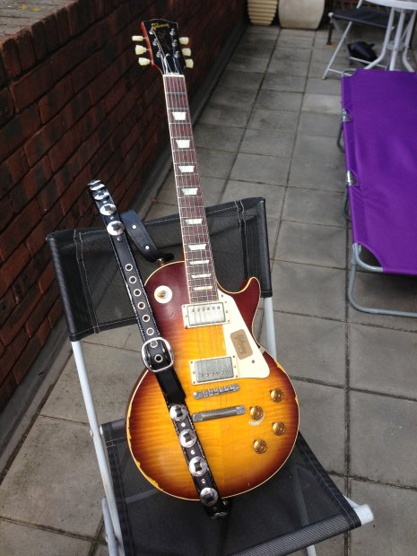gibson les paul joe perry aged signed 2013 37 reverb. Black Bedroom Furniture Sets. Home Design Ideas