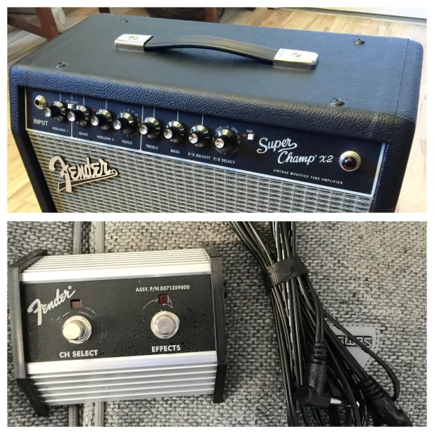 fender super champ x2 combo w footswitch cable reverb. Black Bedroom Furniture Sets. Home Design Ideas