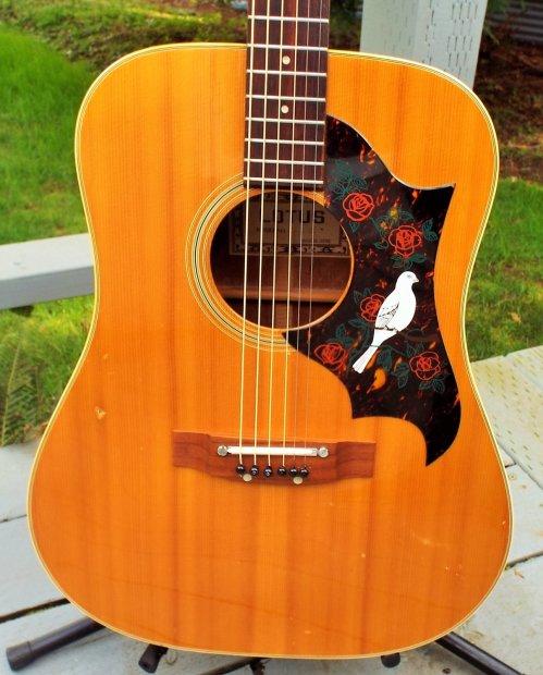 Lotus Lw G5 1972 Natural Mahogany Gibson Dove Copy