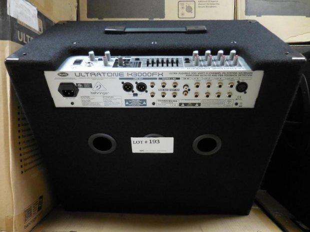 behringer ultratone k3000fx 300 watt 4 channel pa system keyboard amplifier reverb. Black Bedroom Furniture Sets. Home Design Ideas