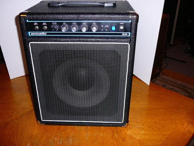 acoustic b20 bass guitar amp combo amplifier 12 speaker loud clean 2000 39 s black reverb