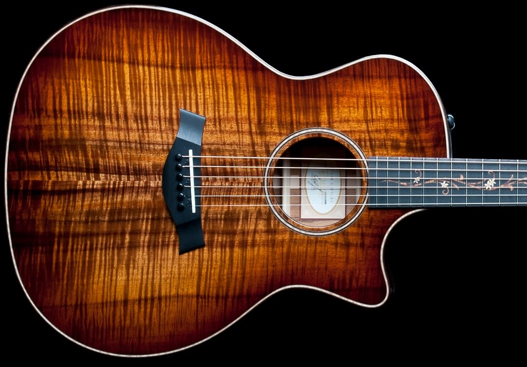sold taylor k24ce 2014 koa aa flamed top gotoh 510 tuners 2nd price reduction the. Black Bedroom Furniture Sets. Home Design Ideas