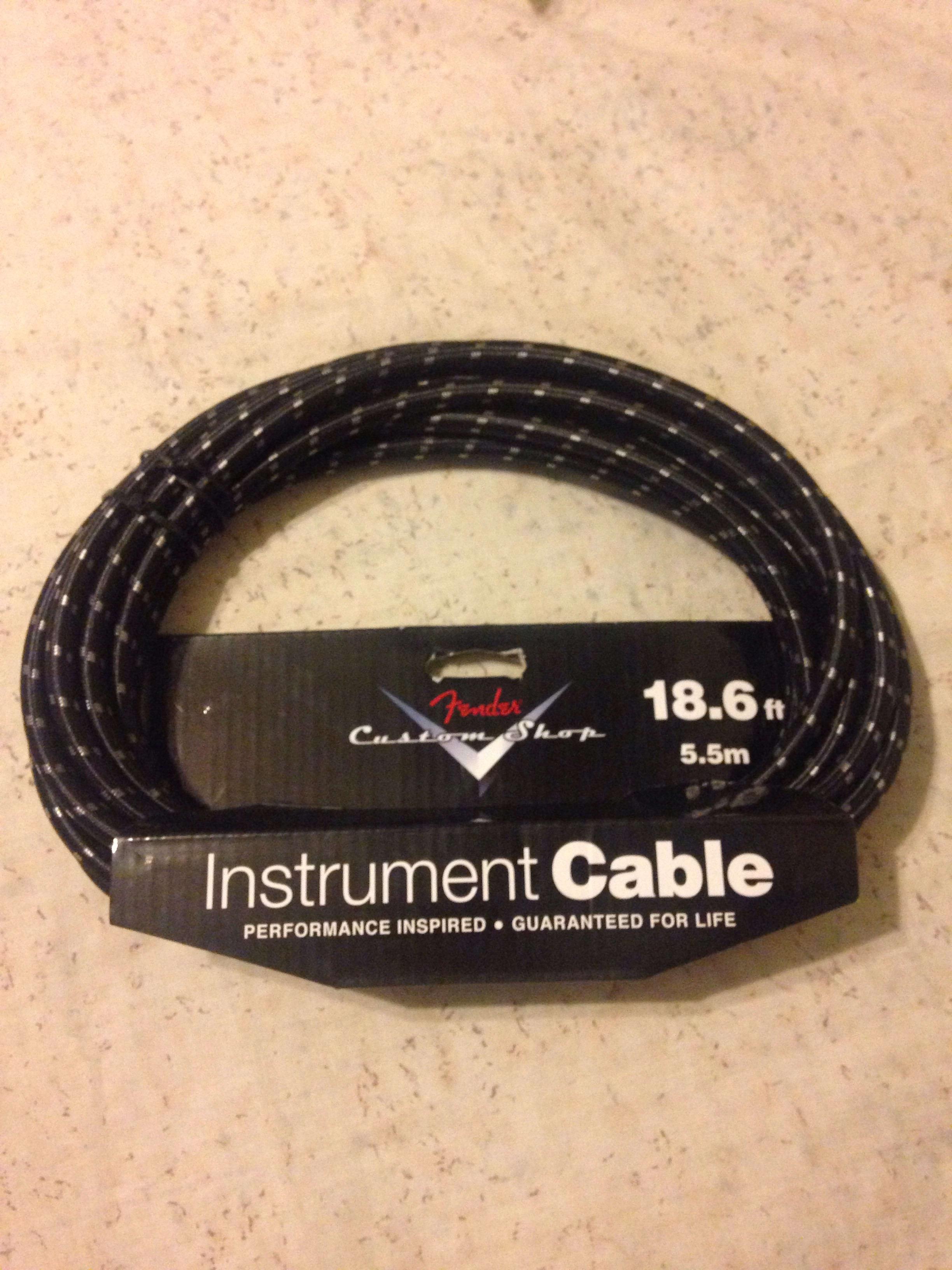Fender 18.6' fender custom shop instrument cable Black Tweed