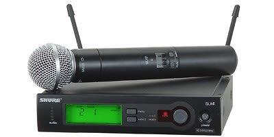 Shure SLX24/SM58 Handheld Wireless System G4 Band (470 – 494 MHz)