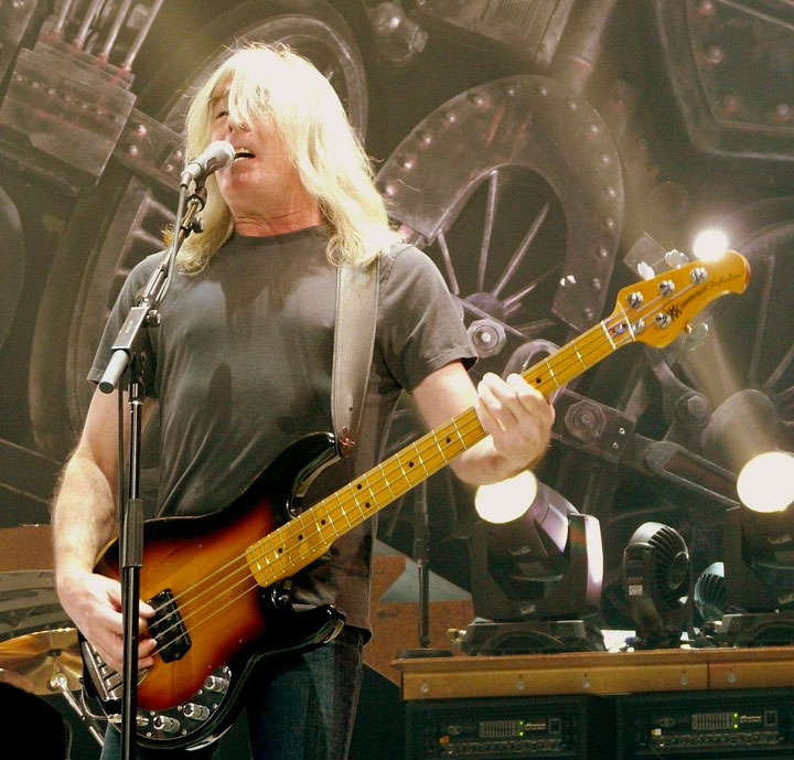 AC/DC's Cliff Williams playing a StingRay Bass