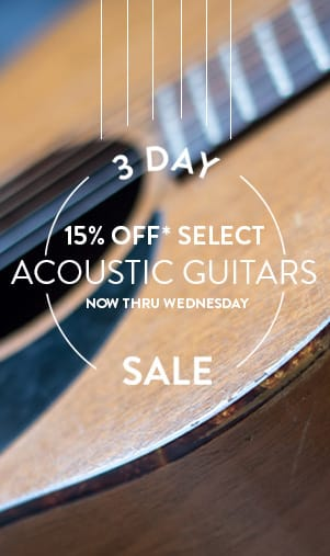 3-Day Acoustic Guitar Sale