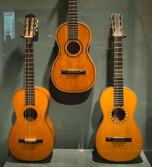 Classical guitars in the Martin Museum