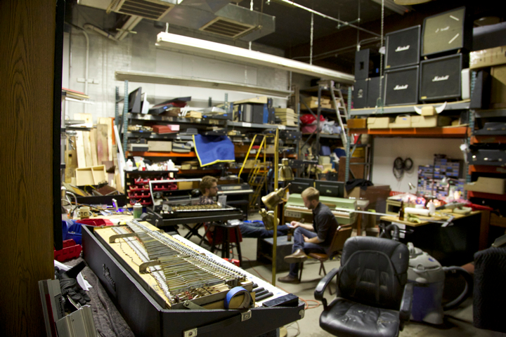 the clutter of the Chicago Electric Piano Company