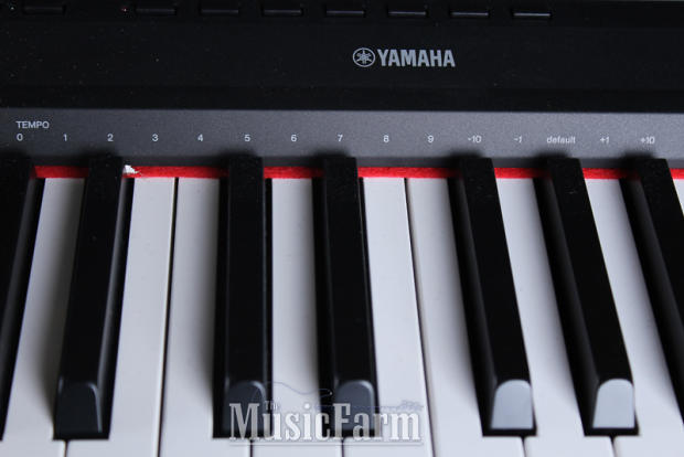 yamaha p115 88 weighted key digital stage piano p115b with sustain pedal black reverb. Black Bedroom Furniture Sets. Home Design Ideas