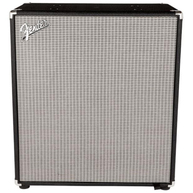 Fender rumble 410 cabinet v3 black silver reverb for Black and silver cabinet